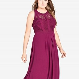 Plus Purple Maxi Dress for Formal Event or Wedding